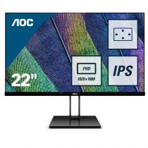 AOC Value-line 22V2Q - 54,6 cm (21.5 Zoll) - 1920 x 1080 Pixel - Full HD - LED - 5 ms - Schwarz