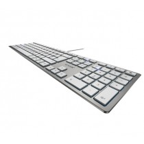 Cherry KC 6000 Slim - Tastatur - QWERTZ - Deutsch - Silber