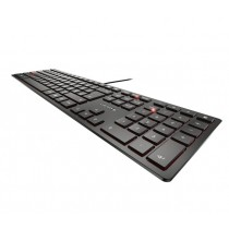 Cherry KC 6000 Slim - Tastatur - QWERTZ - Deutsch - Schwarz