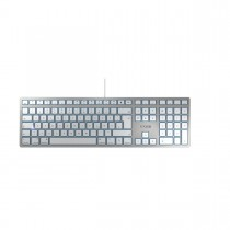 CHERRY KC 6000 Slim - Tastatur - QWERTZ - Desutsch - Silber - For MAC